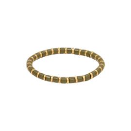 Armband sugar beads groen & goud