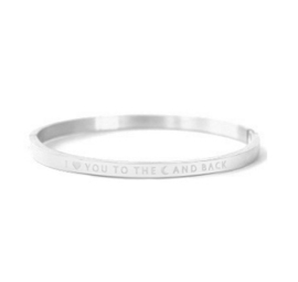 Bangle to the moon and back - zilver