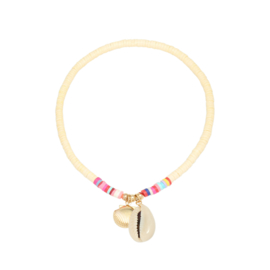 Anklet - Beach day light yellow