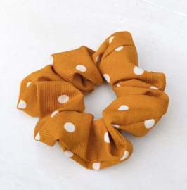 Scrunchie stippen caramel