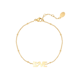 Armband love - goud