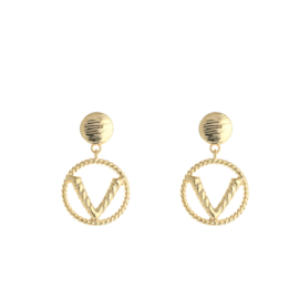 Earrings V - Gold