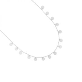 Ketting kleine muntjes - zilver