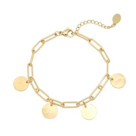 Armband muntjes - goud