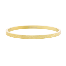 Bangle slangeprint - goud