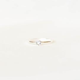 Ring Swarovski grijs blauw - goud