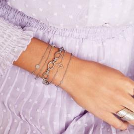Armband rondjes - zilver