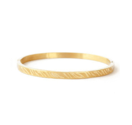 Bangle zebraprint - goud