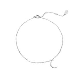 Armband sterretje & maantje - zilver