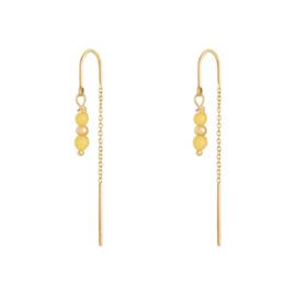 Oorringetjes ketting - geel & goud