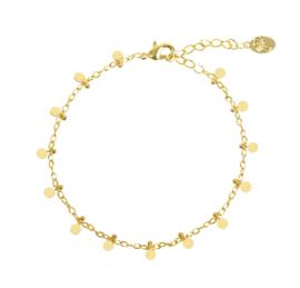 Armband mini muntjes - goud
