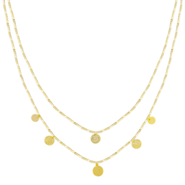 Necklace  Coins - Gold