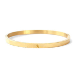 Bangle ster - goud