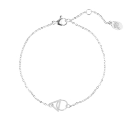 Armband connected - zilver