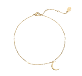 Armband maantje & sterretje -goud