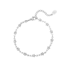 Armband sterretjes - zilver