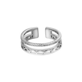 Ring boho -zilver
