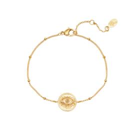 Armband oogje - goud