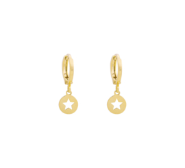 Oorringetjes Cut Out Star - Gold