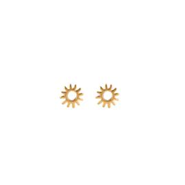 Oorknopjes zonnetje - goud