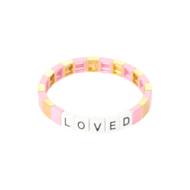 Armband loved roze & goud