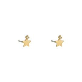 Oorknopjes ster - goud