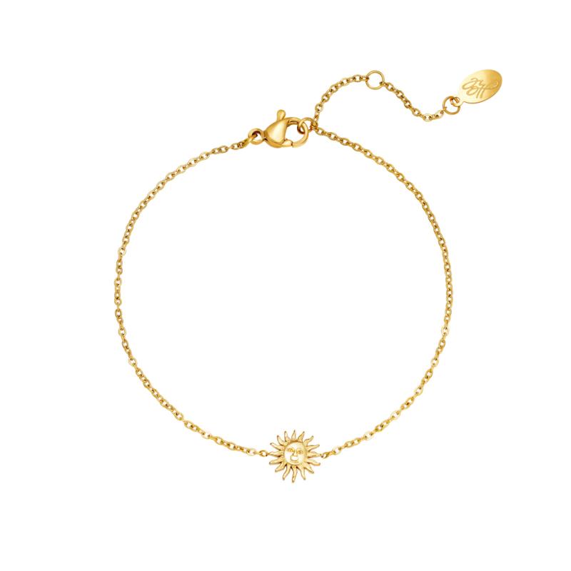 Armband zonnetje - goud
