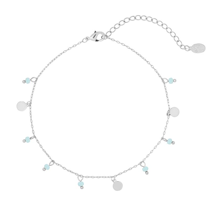 Bracelet Blue Dots - Silver