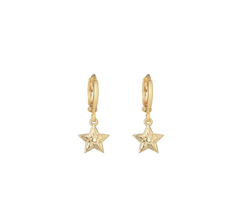 Oorringetjes Stars Gold