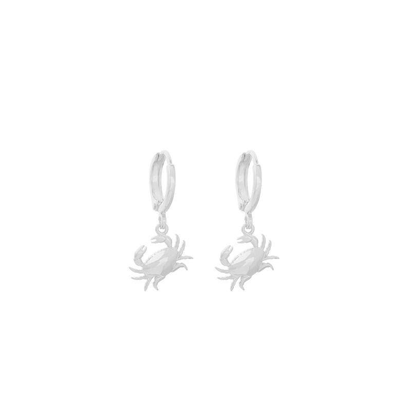 Oorringetjes Crab Silver