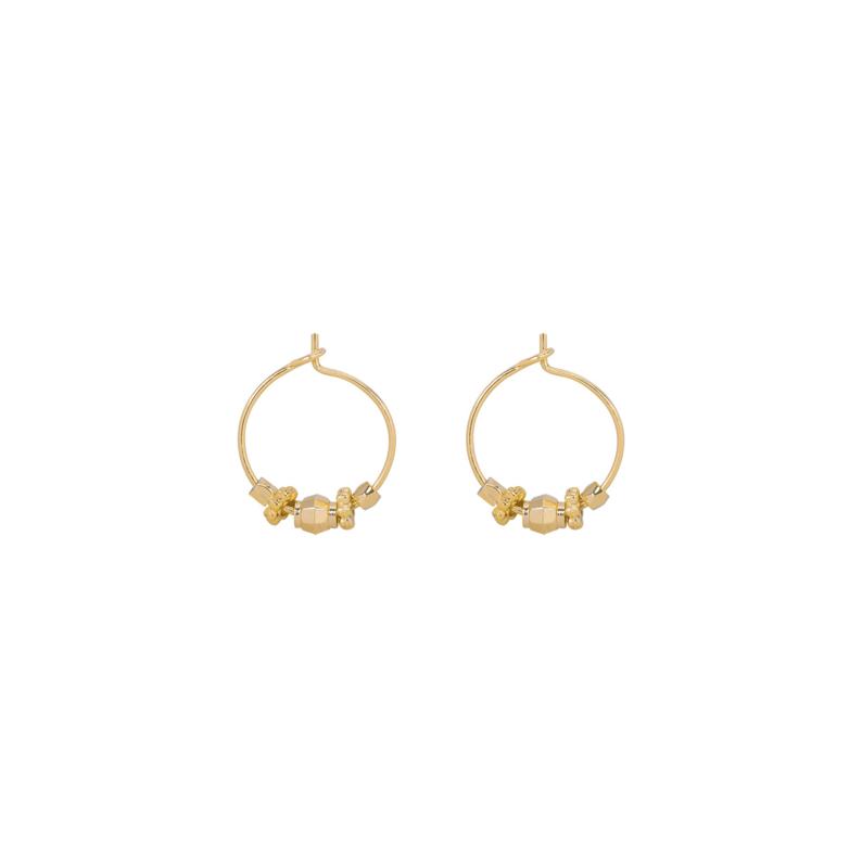 Oorringetjes  Beads - Gold