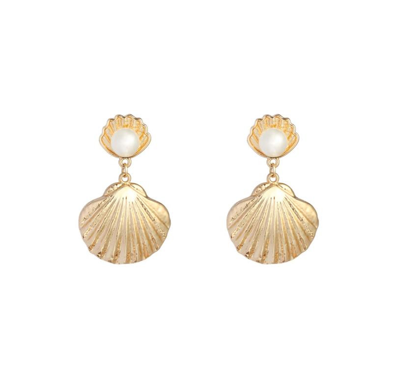 Oorringen Shell - Gold
