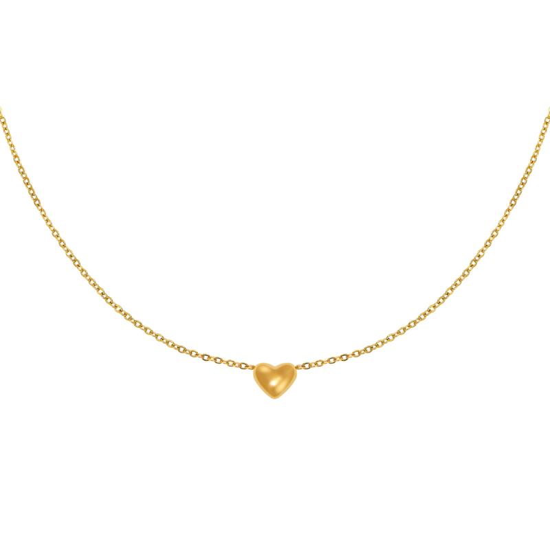 Ketting hartje - goud