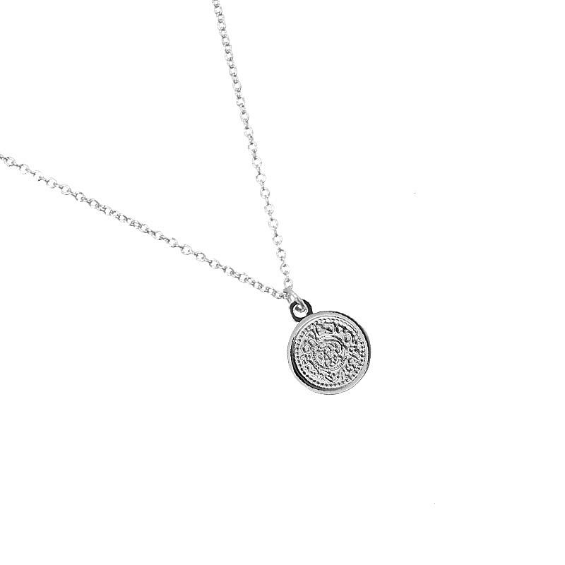 Ketting klein muntje - zilver