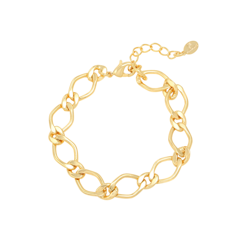 Armband large chain - goud