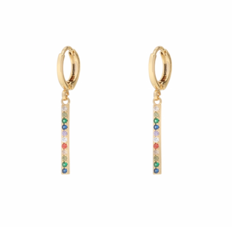 Earrings - Colorful Stones