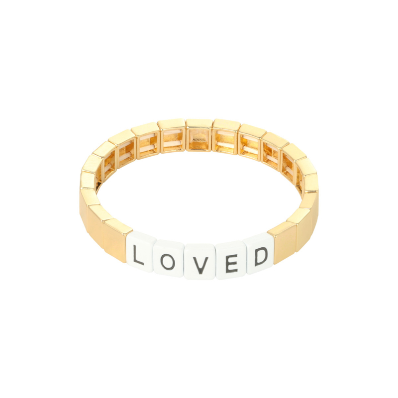 Armband loved goud