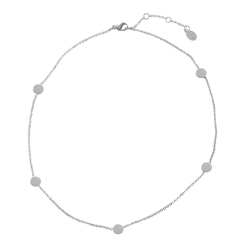 Ketting rondjes - zilver