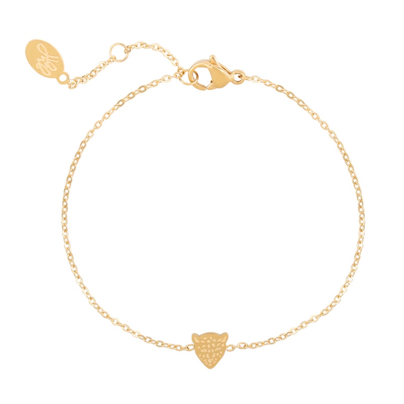 Armband klein pantertje - goud