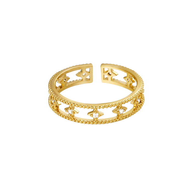 Ring zirkonia - goud