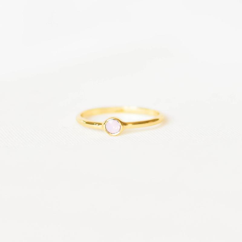 Ring Swarovski zachtroze - goud