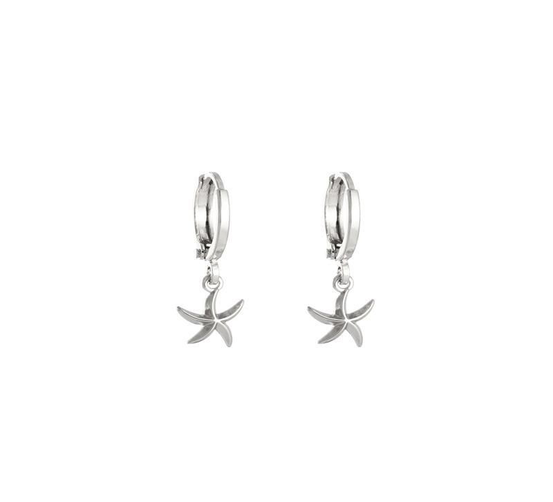Oorringetjes Starfish Silver