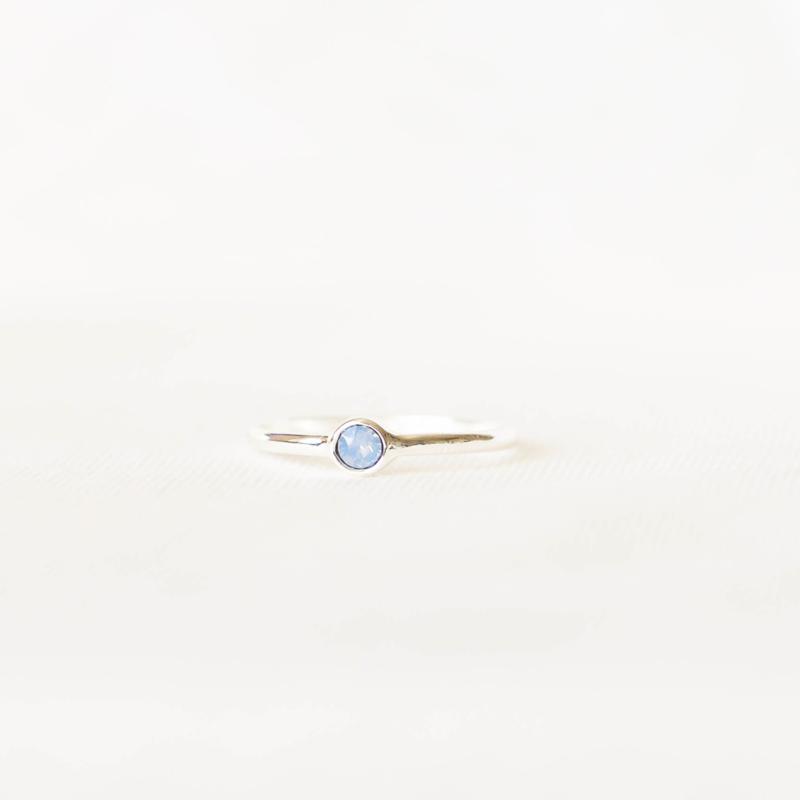 Ring Swarovski lila - zilver
