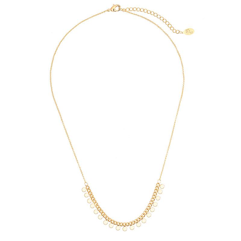 Necklace Boho coins - Gold