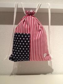 Rugtasje Amerikaanse vlag (groot)
