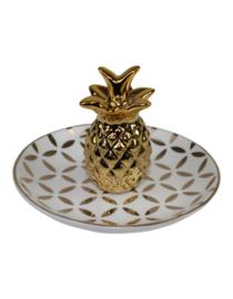 Plate Pineapple goud