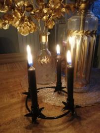 Kaarsenring zwart 16cm