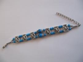 Kinder armband turquoise