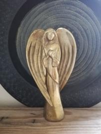 Engel goud ruw nikkel 20cm