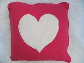 Kussen roze hart